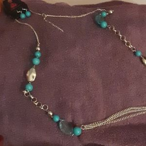 Paparazzi necklace and earring